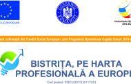 """Comunicat de presă - Proiectul """"Bistrița, pe harta profesională a Europei"""""""